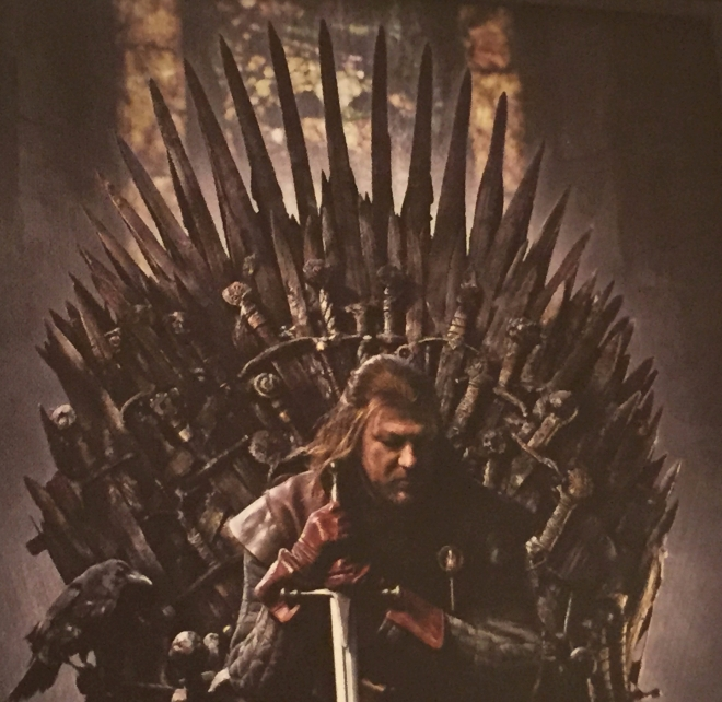 Ned Stark on the Iron Throne